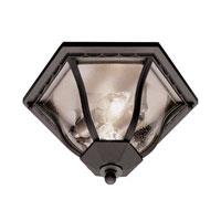 Trans Globe Lighting The Standard 2 Light Outdoor Flush Mount in Black 4559-BK photo thumbnail