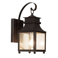 Trans Globe Lighting 45630-WB Garden Chimney 1 Light 14 inch Weathered Bronze Outdoor Wall Lantern