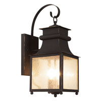 Trans Globe Garden Chimney 3 Light Outdoor Wall Lantern in Weathered Bronze 45632-WB