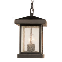 Traditional Seeded 2 Light 17 inch Weathered Bronze Post Lantern