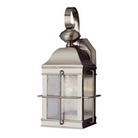 Trans Globe Lighting Coastal 1 Light Outdoor Wall Lantern in Brushed Nickel 4632-BN