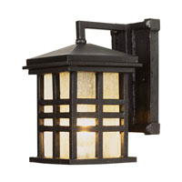 Trans Globe Lighting Craftsman 1 Light Outdoor Wall Lantern in Black 4635-BK