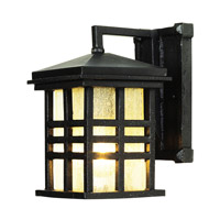 Rustic Craftsman 1 Light 10 inch Black Outdoor Wall Lantern