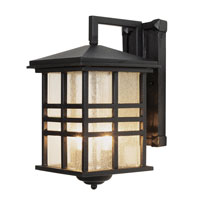 Trans Globe Craftsman 2 Light Outdoor Wall Lantern in Black 4636-BK