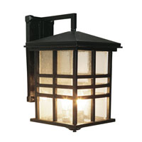 Trans Globe Lighting Craftsman 3 Light Outdoor Wall Lantern in Black 4637-BK
