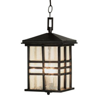 Craftsman 2 Light 9 inch Black Outdoor Hanging Lantern