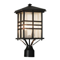 Trans Globe Lighting Craftsman 2 Light Post Lantern in Black 4639-BK