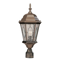 Trans Globe Watered Windows 1 Light Post Lantern in Black Bronze 4716-BRZ