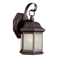 Trans Globe Lighting Classic 1 Light Outdoor Wall Lantern in Weathered Bronze 4870-WB