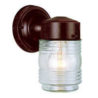 Jelly Jar 1 Light 7 inch Rust Outdoor Wall Lantern