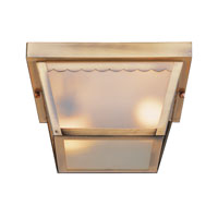 Trans Globe Lighting The Standard 1 Light Outdoor Flush Mount in Polished Brass 4901-PB