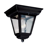 Trans Globe Vermont 1 Light Flush Mount in Black 4903-BK