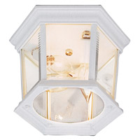 Hexagon 3 Light 9 inch White Flush Mount Ceiling Light