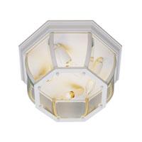 Trans Globe Lighting The Standard 3 Light Outdoor Flush Mount in White 4906-WH photo thumbnail