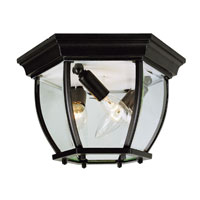 Trans Globe Beveled 4 Light Flush Mount in Black 4907-BK