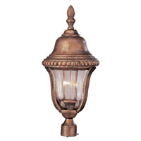 Trans Globe Lighting New American 3 Light Post Lantern in Antique Bronze 4925-ABZ photo thumbnail