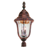 Trans Globe Lighting New American 3 Light Post Lantern in Brown 4925-BR photo thumbnail