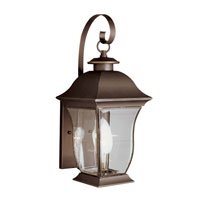 Signature 1 Light 18 inch Weathered Bronze Outdoor Wall Lantern