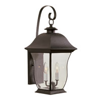 Trans Globe Lighting Classic 2 Light Outdoor Wall Lantern in Black 4971-BK