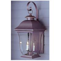 Trans Globe Lighting 4971-WB Downing 2 Light 22 inch Weathered Bronze Outdoor Wall Lantern