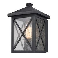 Trans Globe Lighting 50340-BK Leonis 1 Light 10 inch Black Outdoor Wall Lantern