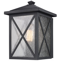 Trans Globe Lighting 50341-BK Leonis 1 Light 12 inch Black Outdoor Wall Lantern