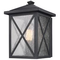 Trans Globe Lighting 50341-BK Leonis 1 Light 12 inch Black Outdoor Wall Lantern