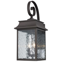 Trans Globe Lighting 50351-WB Heirloom 2 Light 22 inch Weathered Bronze Outdoor Wall Lantern