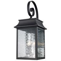 Trans Globe Lighting 50352-BK Heirloom 3 Light 27 inch Black Outdoor Wall Lantern