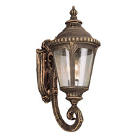 Trans Globe Lighting Estate 1 Light Outdoor Wall Lantern in Black Gold 5040-BG