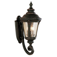 Trans Globe Lighting 5041-BC Commons 3 Light 25 inch Black Copper Outdoor Wall Lantern