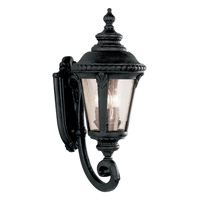 Signature 3 Light 25 inch Black Outdoor Wall Lantern