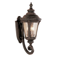 Signature 3 Light 25 inch Rust Outdoor Wall Lantern