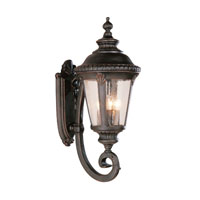 Trans Globe Lighting Estate 4 Light Outdoor Wall Lantern in Rust 5042-RT