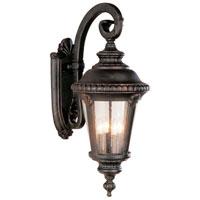 Trans Globe Lighting Estate 4 Light Outdoor Wall Lantern in Black Gold 5045-BG photo thumbnail