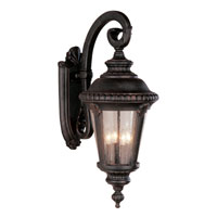 Trans Globe Lighting Estate 4 Light Outdoor Wall Lantern in Rust 5045-RT