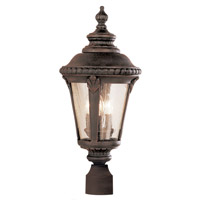Trans Globe Stonebridge 3 Light Post Lantern in Rust 5047-RT