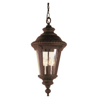 Trans Globe Lighting 50491-BK Commons 3 Light 11 inch Black Outdoor Hanging Lantern