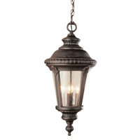 Trans Globe Signature 3 Light Outdoor Pendant in Rust 50491-RT