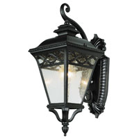 Trans Globe Lighting Villa 1 Light Outdoor Wall Lantern in Black 50510-BK