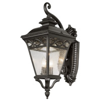 Trans Globe Braided 3 Light Outdoor Wall Lantern in Black 50512-BK