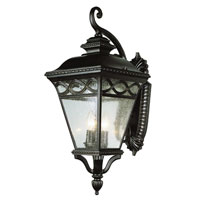 Braided 3 Light 28 inch Burnished Bronze Outdoor Wall Lantern