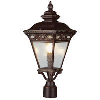 Trans Globe Signature 3 Light Post Lantern in Burnished Bronze 50514-1-BRB