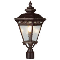 Trans Globe Lighting Villa 3 Light Post Lantern in Burnished Bronze 50514-BRB