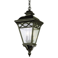 Trans Globe Braided 2 Light Outdoor Hanging Lantern in Black 50516-BK