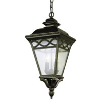 Trans Globe Braided 2 Light Outdoor Pendant in Rust 50516-RT