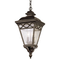 Trans Globe Lighting Villa 3 Light Outdoor Hanging Lantern in Rust 50517-RT