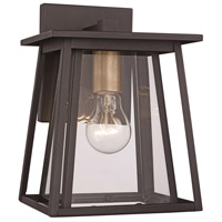 Geode 1 Light 17 inch Black Outdoor Wall Lantern
