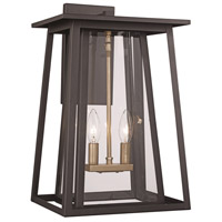 Trans Globe Lighting 50761-BK Geode 2 Light 20 inch Black Outdoor Wall Lantern