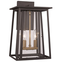 Trans Globe Lighting 50762-BK Geode 2 Light 25 inch Black Outdoor Wall Lantern